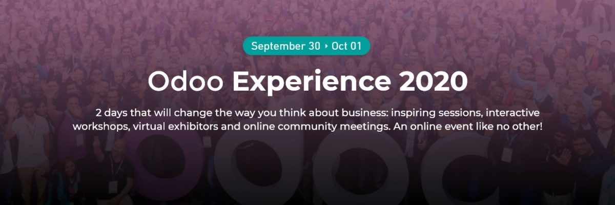 ODOO EXPERIENCE 2020 IS HERE!