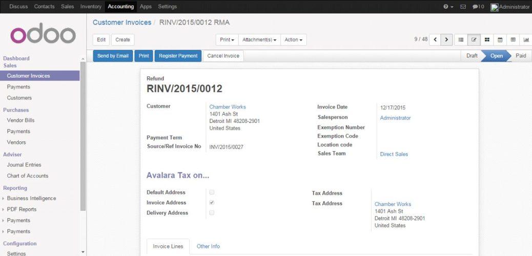 Register Refund Payment