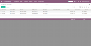 odoo customer invoice