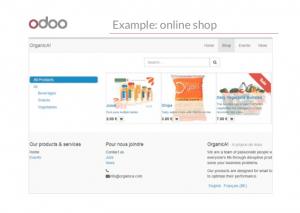 odoo website builder online shop