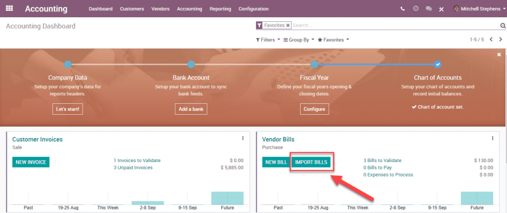 Odoo 12 003 - Accounting import vendor bill