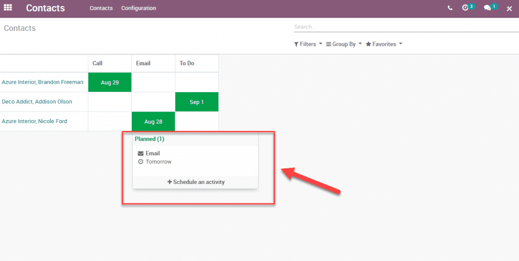 Odoo 12 009 - Calendar and Activities easy tracking