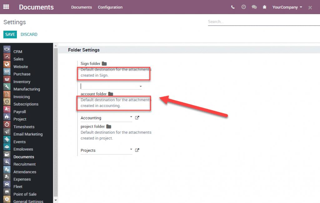 Odoo 12 014 - Document management default destination