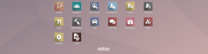 Odoo 12 application screen