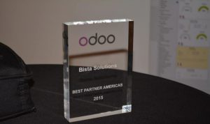 odoo best partner americas 2015 plaque
