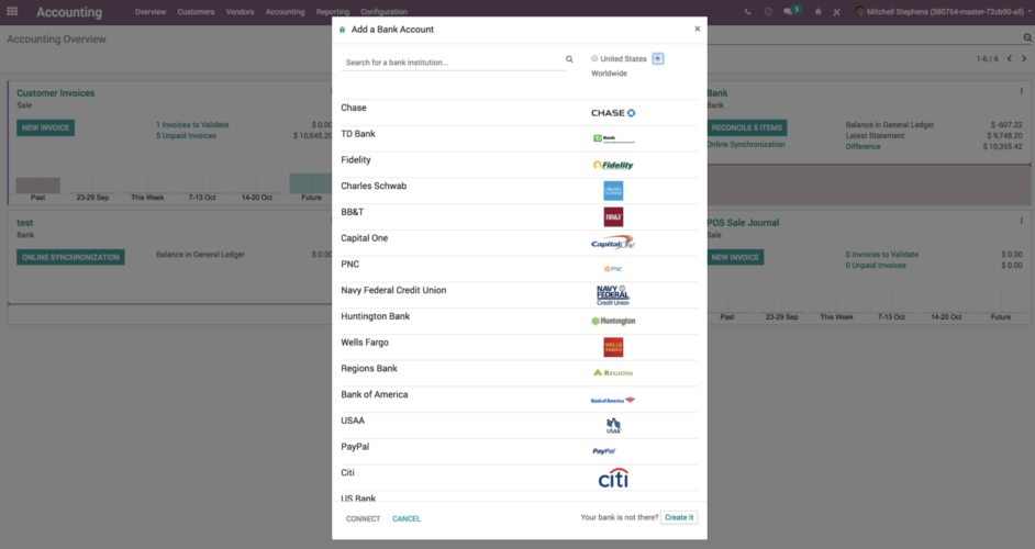 Odoo 12 benefits 003 - banking integration