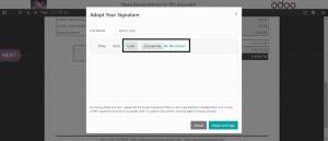 odoo signature module
