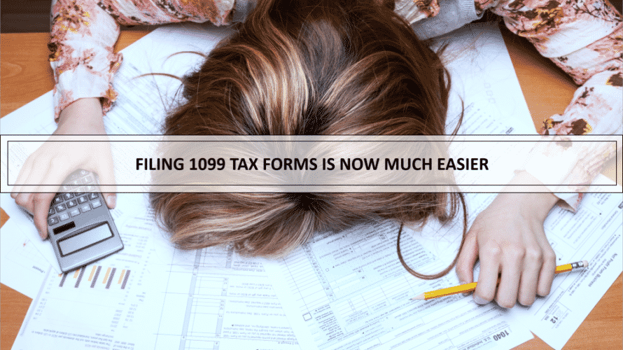 Filing 1099 tax forms now easier!