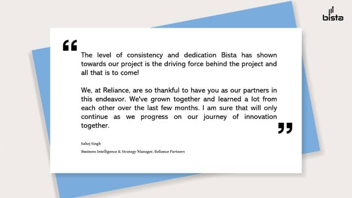 Reliance Partner case study