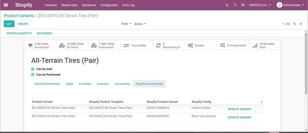 Odoo Shopify Integration